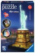 108 Teile Ravensburger 3D Puzzle Bauwerk Freiheitsstatue bei Nacht 12596