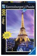 500 Teile Ravensburger Puzzle Star Line leuchtet im Dunkeln Funkelnder Eiffelturm 14898