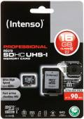 Intenso Micro SDHC Karte 16GB Speicherkarte UHS-I professional 90 MB/s Class 10