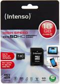 Intenso Micro SDHC Karte 16GB Speicherkarte Class 10