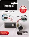 Intenso USB Stick 64GB Speicherstick iMobile Line schwarz USB 3.0 mit Apple Lightning