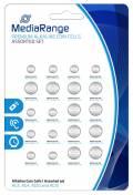 20 Mediarange Alkaline Knopfzelle Batterien 4x AG3 6x AG4 6x AG10 4x AG13