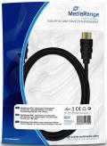 Mediarange HDMI Kabel 1.4 Ethernet Gold Connectors Full HD 3D 1,8 m schwarz