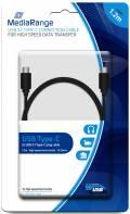 Mediarange USB Kabel USB 3.1 Typ C - USB 3.1 Typ C 1,2 m schwarz