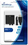 Mediarange HDMI - VGA Converter mit 3,5 mm Audio Anschluss schwarz