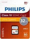 Philips SDHC Karte 32GB Speicherkarte UHS-I U1 Class 10