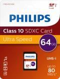 Philips SDXC Karte 64GB Speicherkarte UHS-I U1 Class 10