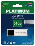 Platinum USB Stick 64GB Speicherstick Alu silber