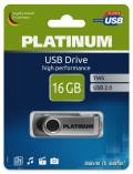 Platinum USB Stick 16GB Speicherstick TWS schwarz