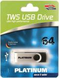 Platinum USB Stick 64GB Speicherstick TWS schwarz USB 3.0