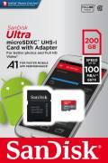 Sandisk Micro SDXC Karte 200GB Speicherkarte Ultra Android UHS-I U1 100 MB/s A1 Class 10