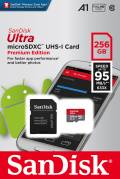 Sandisk Micro SDXC Karte 256GB Speicherkarte Ultra Android UHS-I U1 100 MB/s A1 Class 10