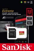 Sandisk Micro SDHC Karte 32GB Speicherkarte Extreme UHS-I U3 4K 100 MB/s V30 A1 Class 10
