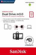 Sandisk USB Stick 32GB Speicherstick OTG Ultra Dual Drive m3.0 schwarz USB 3.0 mit Micro USB