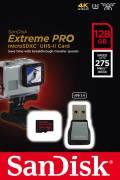 Sandisk Micro SDXC Karte 128GB Speicherkarte Extreme Pro UHS-II U3 4K 275 MB/s Class 10