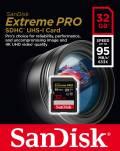 Sandisk SDHC Karte 32GB Speicherkarte Extreme Pro UHS-I U3 4K 95 MB/s V30 Class 10