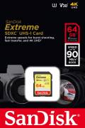 Sandisk SDXC Karte 64GB Speicherkarte Extreme UHS-I U3 4K 90 MB/s V30 Class 10