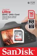 Sandisk SDHC Karte 16GB Speicherkarte Ultra UHS-I 80 MB/s SDSDUNC-016G-GN6IN Class 10