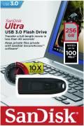 Sandisk USB Stick 256GB Speicherstick Cruzer Ultra schwarz USB 3.0
