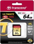 Transcend SDXC Karte 64GB Speicherkarte Ultimate 633x UHS-I U3 4K Class 10