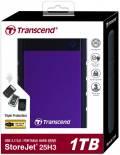 Transcend HDD externe Festplatte StoreJet 25H3 2,5 Zoll 1TB USB 3.1 purple