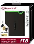 Transcend HDD externe Festplatte StoreJet 25M3 2,5 Zoll 1TB USB 3.1 iron gray