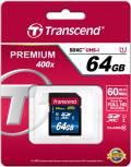 Transcend SDXC Karte 64GB Speicherkarte Premium 400x UHS-I Class 10