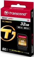 Transcend SDHC Karte 32GB Speicherkarte Ultimate X UHS-I U3 4K Class 10