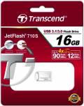 Transcend USB Stick 16GB Speicherstick JetFlash 710 silber Mini USB 3.1