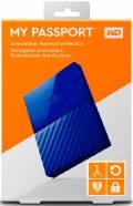 WD Western Digital HDD externe Festplatte My Passport 2,5 Zoll 1TB USB 3.0 blau