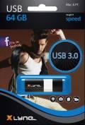 Xlyne USB Stick 64GB Speicherstick WAVE schwarz USB 3.0