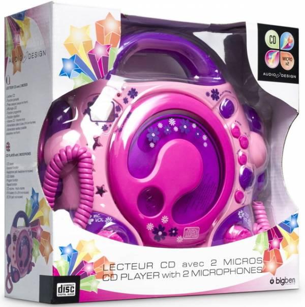 bigben tragbarer cd player cd47 kids pink kinder 2. Black Bedroom Furniture Sets. Home Design Ideas