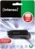 Intenso USB Stick 16GB Speicherstick Speed Line schwarz USB 3.0