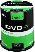 100 Intenso Rohlinge DVD-R 4,7GB 16x Spindel