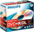 5 Philips Rohlinge DVD+R Double Layer 8,5GB 8x Jewelcase
