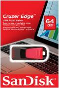 Sandisk USB Stick 64GB Speicherstick Cruzer Edge schwarz