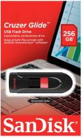 Sandisk USB Stick 256GB Speicherstick Cruzer Glide schwarz