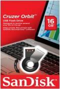 Sandisk USB Stick 16GB Speicherstick Cruzer Orbit schwarz