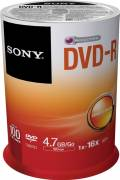100 Sony Rohlinge DVD-R 4,7GB 16x Spindel