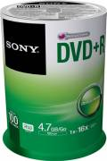 100 Sony Rohlinge DVD+R 4,7GB 16x Spindel