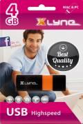 Xlyne USB Stick 4GB Speicherstick Wave schwarz