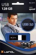 Xlyne USB Stick 128GB Speicherstick WAVE schwarz USB 3.0