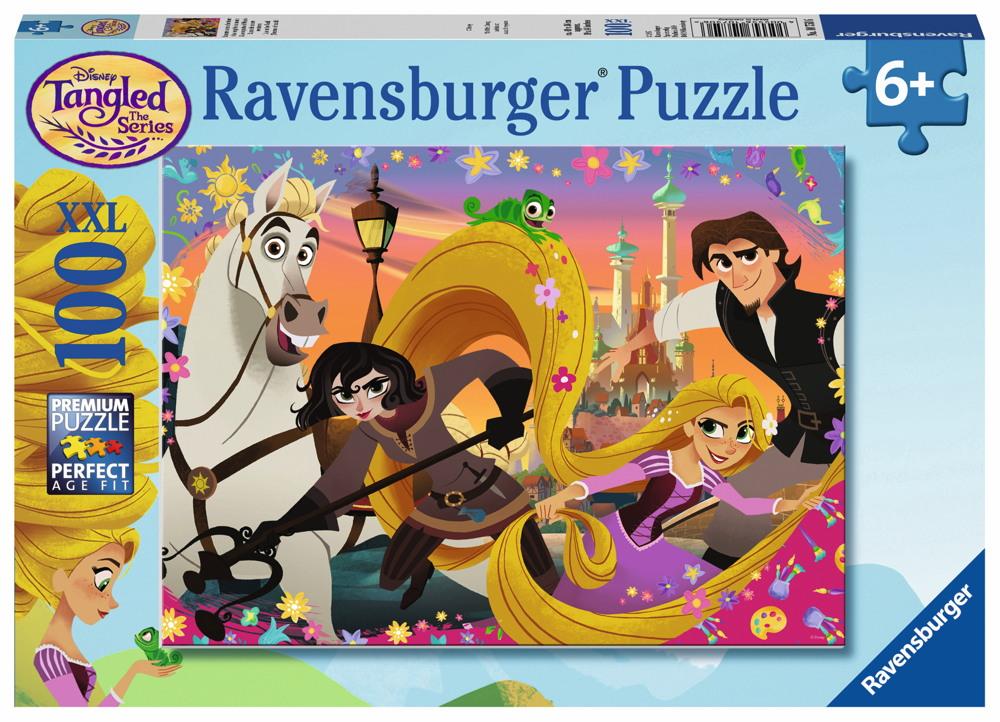 100 Teile Ravensburger Kinder Puzzle XXL Disney Rapunzel Rapunzels neue Abenteuer 10750