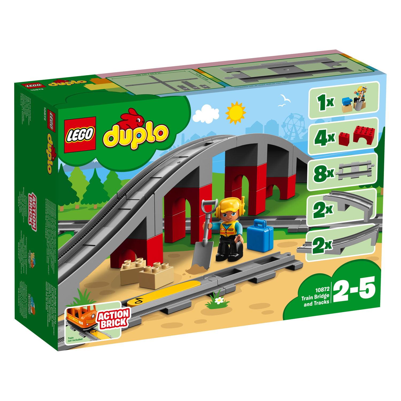 LEGO® DUPLO® Eisenbahn Eisenbahnbrücke und Schienen 26 Teile 10872