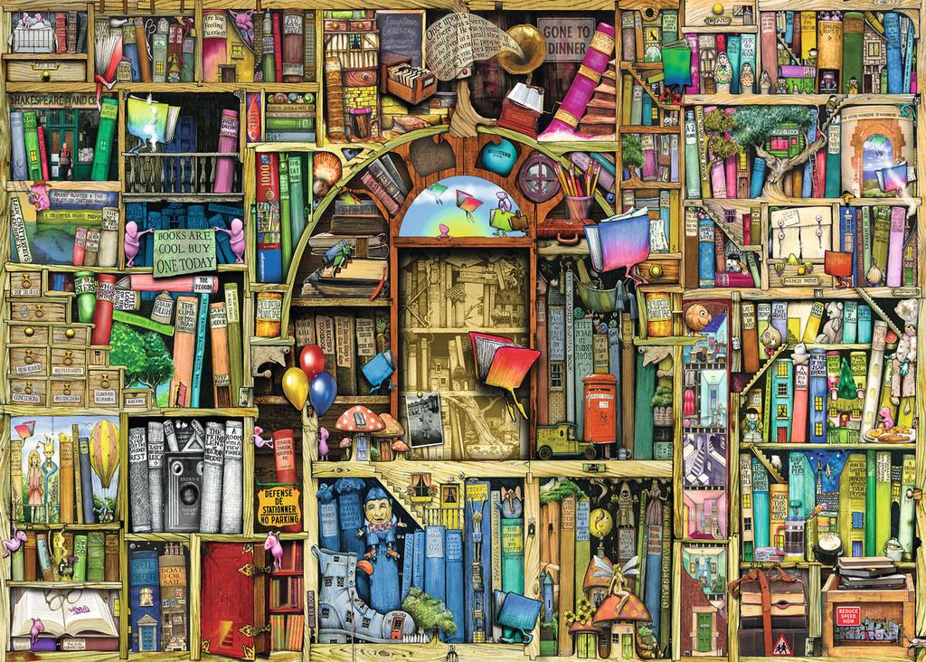 Bücherregal gezeichnet  1000 Teile Ravensburger Puzzle Colin Thompson Magisches ...