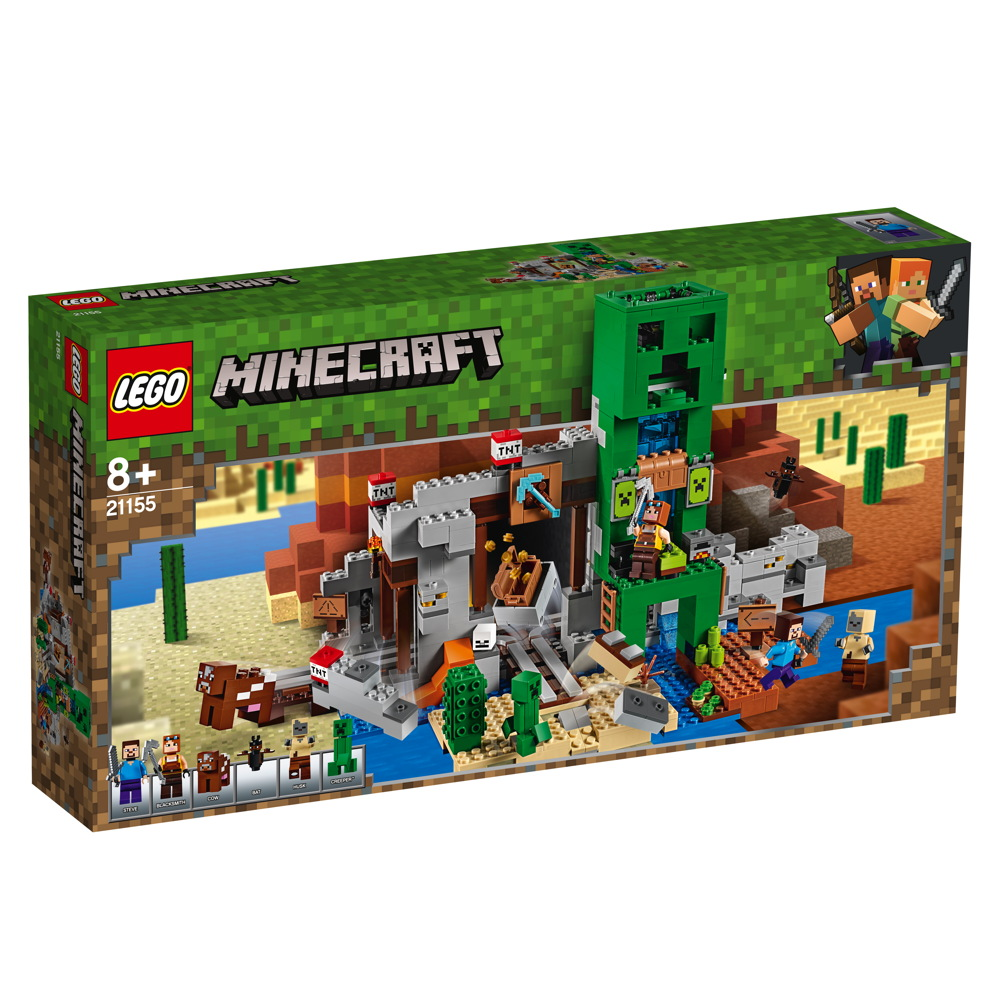 LEGO® Minecraft™ Die Creeper™ Mine 834 Teile 21155