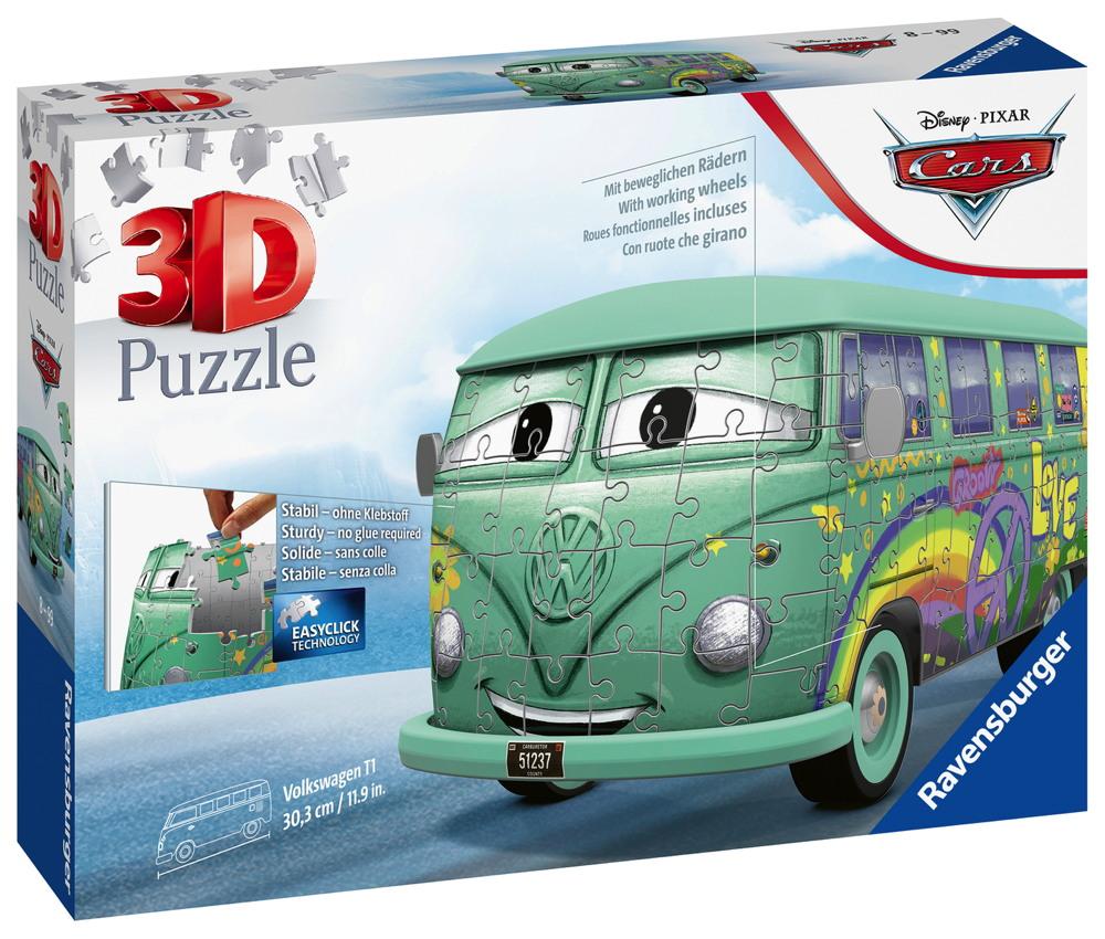 162 Teile Ravensburger 3D Puzzle Bus VW Volkswagen T1 Cars Fillmore 11185
