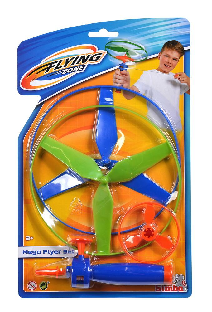 Simba Outdoor Spielzeug Flugspiel Mega Flyer Set Flying Zone 107206001