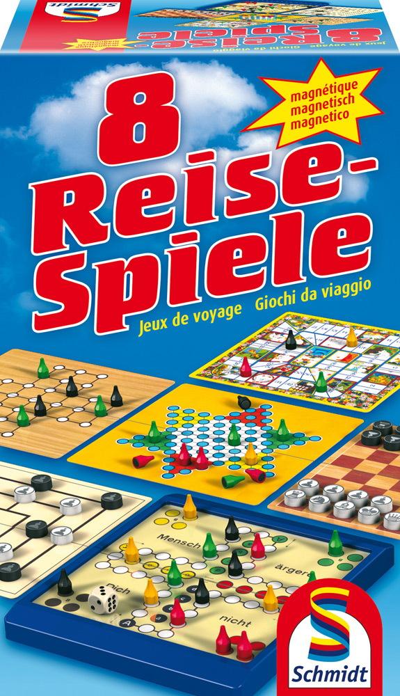 Schmidt Spiele Reisespiele Spielesammlung 8 Reise-Spiele, magnetisch ...