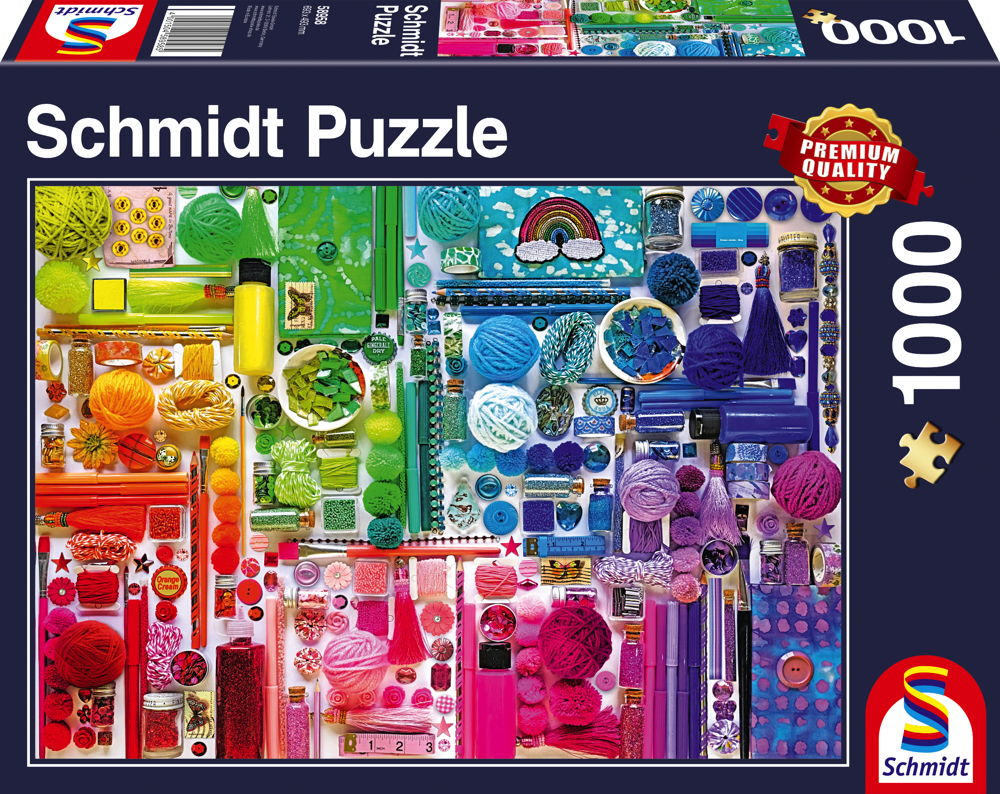 1000 Teile Schmidt Spiele Puzzle Regenbogenfarben 58958